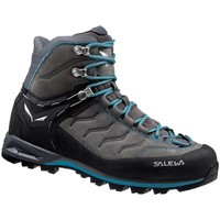 Zapatos Mujer Senderismo Salewa Mtn Trainer Mid Leather Womens Grafito-Gris