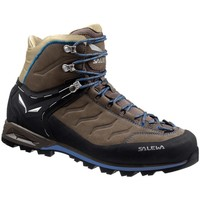 Zapatos Hombre Senderismo Salewa Mtn Trainer Mid Leather Grafito-Marrón