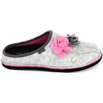 Zapatos Mujer Pantuflas Fargeot Shannon Gris Rose Gris