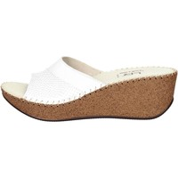 Zapatos Mujer Zuecos (Mules) Ellerre 6322-46 Chancla Mujer Blanco Blanco