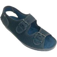 Zapatos Mujer Pantuflas Made In Spain 1940 Zapatilla mujer muy ancha con hebillas e azul