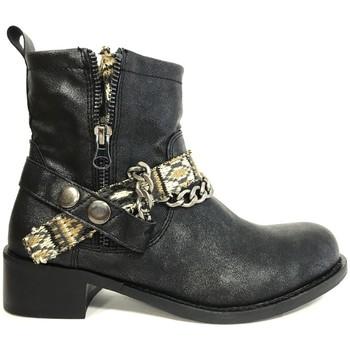 Zapatos Mujer Botines Cassis Côte d'Azur Cassis cote d'azur Bottine Lithosy Noir Negro