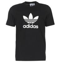 textil Hombre camisetas manga corta adidas Originals TREFOIL T SHIRT Negro