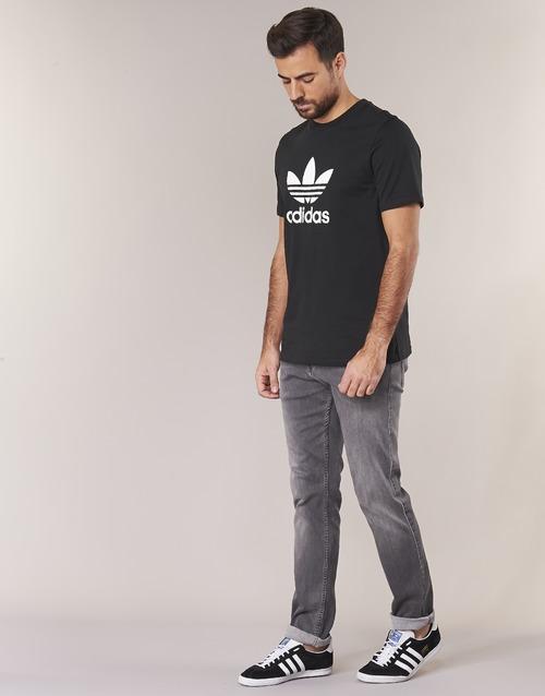 Shirt Textil Manga Originals T Corta Trefoil Hombre Camisetas Adidas Negro CBodex