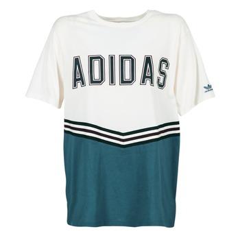 textil Mujer camisetas manga corta adidas Originals ADIBREAK SS TEE Blanco / Marino