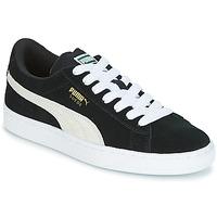 Zapatos Niños Zapatillas bajas Puma SUEDE JR Negro / Blanco