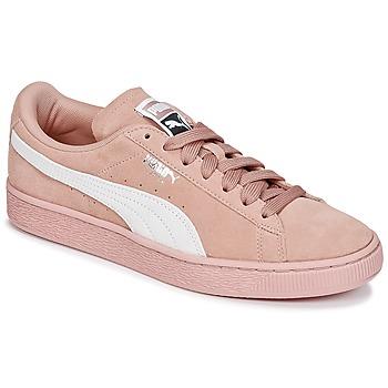 Zapatos Mujer Zapatillas bajas Puma SUEDE CLASSIC W'S Rosa / Blanco