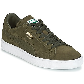 Zapatos Hombre Zapatillas bajas Puma SUEDE CLASSIC + Kaki / Blanco