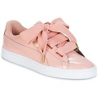 Zapatos Mujer Zapatillas bajas Puma BASKET HEART PATENT W'S Rosa