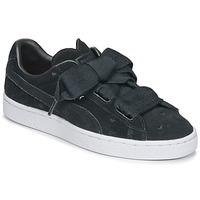 Zapatos Niña Zapatillas bajas Puma SUEDE HEART VALENTINE JR Negro