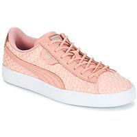 Zapatos Mujer Zapatillas bajas Puma BASKET SATIN EP WN'S Rosa
