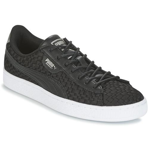 Zapatos casuales salvajes Zapatos especiales Puma BASKET SATIN EP WN'S Negro