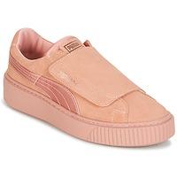 Zapatos Mujer Zapatillas bajas Puma PLATFORMSTRAP SATIN EP W'S Rosa