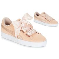 Zapatos Mujer Zapatillas bajas Puma SUEDE HEART LUNALUX W'S Rosa
