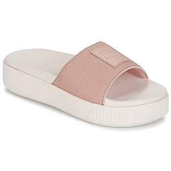 Zapatos Mujer Zuecos (Mules) Puma PLATFORM SLIDE WNS EP Rosa