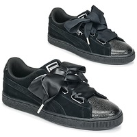 Zapatos Mujer Zapatillas bajas Puma SUEDE HEART BUBBLE W'S Negro