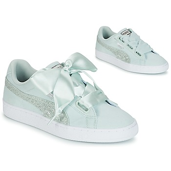 Puma BASKET HEART CANVAS WS Azul / Blanco / Plateado