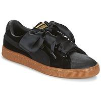 Zapatos Mujer Zapatillas bajas Puma BASKET HEART VS W'N Negro