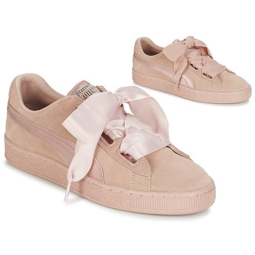 Los zapatos más populares para hombres y mujeres Zapatos especiales Puma W SUEDE HEART EP Rosa