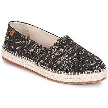 Zapatos Mujer Alpargatas El Naturalista SEAWEED CANVAS Negro / Gris