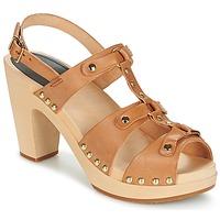 Zapatos Mujer Sandalias Swedish hasbeens BRASSY Camel