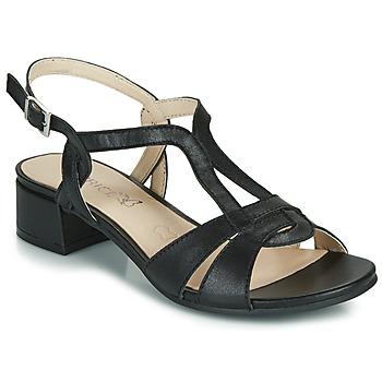 Yokono - Sandalias de piel Itaca negro -Altura plataforma: 4,5cm-