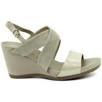 Zapatos Mujer Sandalias Geox Respira D72P3A Taupe