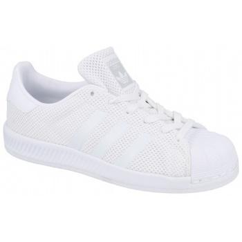 Zapatos Niños Zapatillas bajas adidas Originals Superstar Bounce J blanco