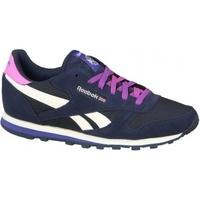 Zapatos Niños Multideporte Reebok Sport Classic Leather azul