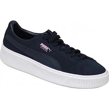 Zapatos Niños Zapatillas bajas Puma Suede Platform JR azul