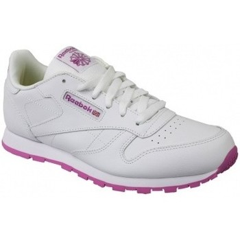 Zapatos Niños Multideporte Reebok Sport Classic Leather blanco