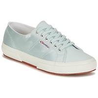 Zapatos Mujer Zapatillas bajas Superga 2750 SATIN W Azul / Plata