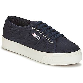 Zapatos Mujer Zapatillas bajas Superga 2730 COTU Marino / Blanco