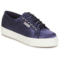 Zapatos Mujer Zapatillas bajas Superga 2730 SATIN W Marino