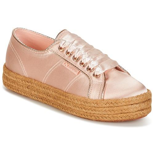 Zapatos promocionales Superga 2730 SATIN COTMETROPE W Rosa  Zapatos de mujer baratos zapatos de mujer