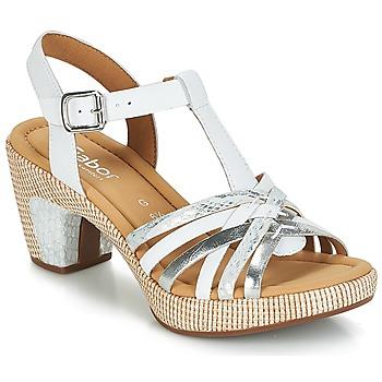Zapatos Mujer Sandalias Gabor MASTIAR Blanco / Plateado