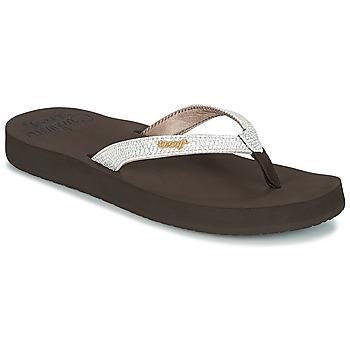 Zapatos Mujer Chanclas Reef STAR CUSHION SASSY Marrón / Blanco