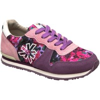 Zapatos Niña Zapatillas bajas The Art Company A454 SUEDE-FANTASY PINK-PURPLE/ RUN-ART Rosa