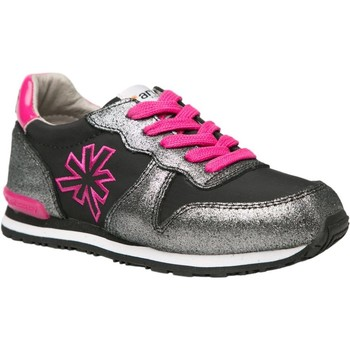 Zapatos Niña Zapatillas bajas The Art Company A456 SUEDE-LONA BLACK-FUCHSIA / RUN-ART Negro