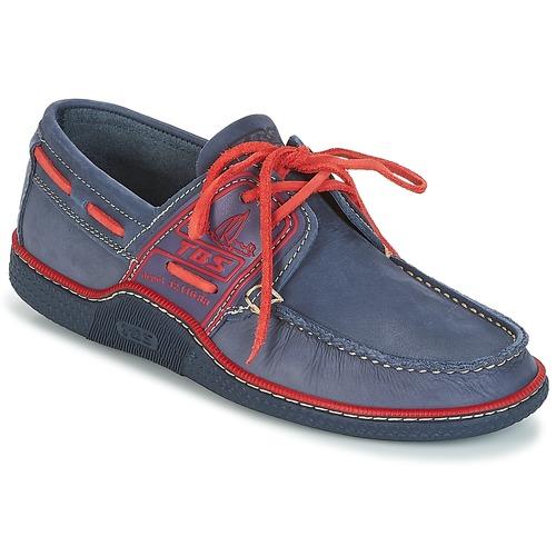 Zapatos Hombre Zapatos náuticos TBS GLOBEK Azul / Rojo