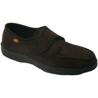 Zapatos Hombre Pantuflas Doctor Cutillas Zapatilla velcro pies muy delicados marrón