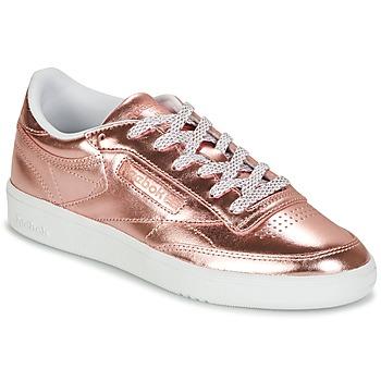 Zapatos Mujer Zapatillas bajas Reebok Classic CLUB C 85 S SHINE Rosa / Metal