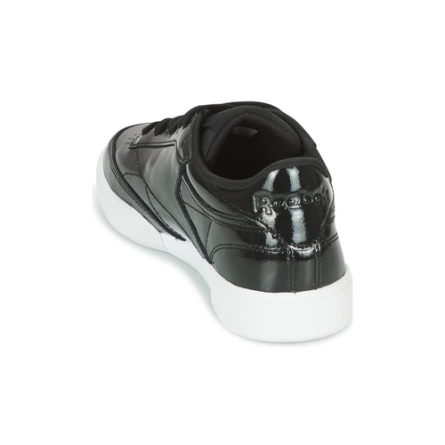 C 85 Zapatillas Club Classic Negro Bajas Patent Zapatos Mujer Reebok OwknP80
