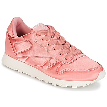 Zapatos Mujer Zapatillas bajas Reebok Classic CLASSIC LEATHER SATIN Rosa
