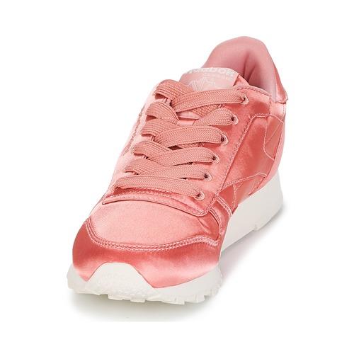 Leather Zapatos Satin Bajas Reebok Rosa Mujer Classic Zapatillas rCxWdBeQo