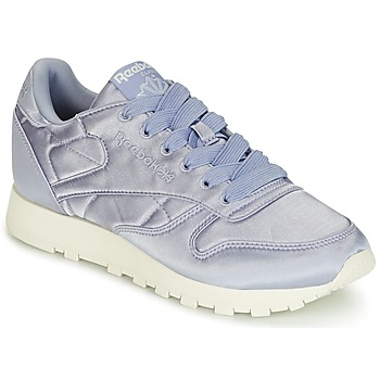 Zapatos Mujer Zapatillas bajas Reebok Classic CLASSIC LEATHER SATIN Violeta