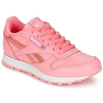 Zapatos Niña Zapatillas bajas Reebok Classic CLASSIC LEATHER SPRING Rosa