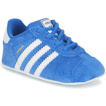 Zapatos Niño Zapatillas bajas adidas Originals GAZELLE CRIB Azul