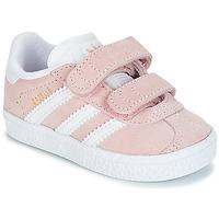 Zapatos Niña Zapatillas bajas adidas Originals GAZELLE CF I Rosa