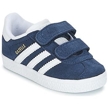 Zapatos Niño Zapatillas bajas adidas Originals GAZELLE CF I Marino